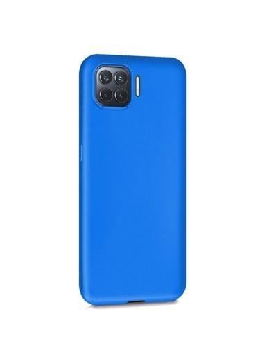 Microsonic Matte Silicone Oppo A73 Kılıf Mavi